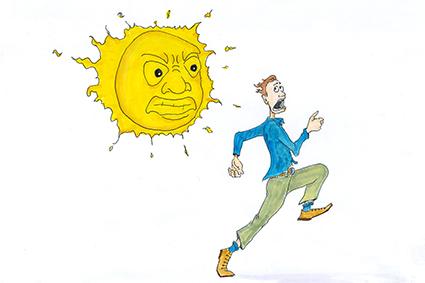 los efectos del sol sobre la piel